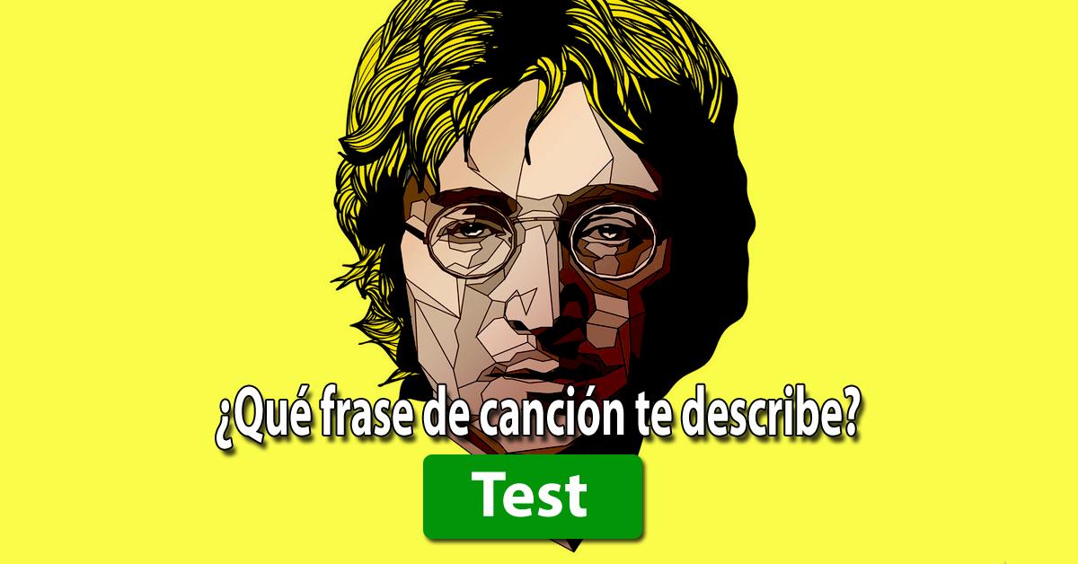 TEST de PERSONALIDAD: ¿Qué frase de canción te describe?